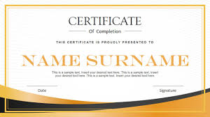 Certificate Layout Design Template Modern Certificate Powerpoint Template