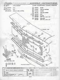 1968 camaro grill diagram