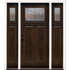 feather river doors 63 5 in x81 625in phoenix patina craftsman stained chestnut mahogany