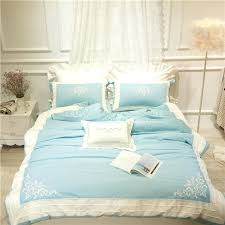 green king size quilt pink blue green embroidery cotton silky bedclothes girls bedding sets queen king