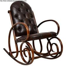 antique bentwood and leather rocking chair by thonet at 1stdibs leather rocking chair