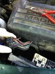 fixing a dakota durango no bus pcm for under 5 dodgeforum com in my case the truck would start and run as long as it wasn t hot and would stall after getting hot what i did was join the two wire sections together by