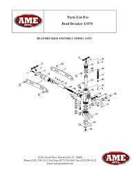 parts list for bead breaker 11070 Circuit Breaker Parts Diagram Motor Protection Circuit Breaker