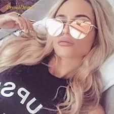 2019 <b>Cat</b> Eye <b>Vintage</b> Brand Designer Rose Gold Mirror Sunglasses ...