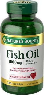 <b>Nature's</b> Bounty Fish Oil 1000 mg, 220 ct <b>Omega</b>-<b>3</b>, <b>Odorless</b> Softgels
