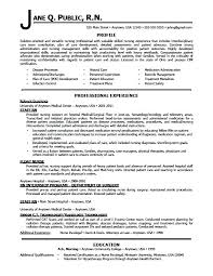Example Of Registered Nurse Resume