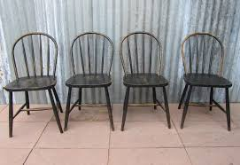 vintage wooden bowback dining chairs set of 4