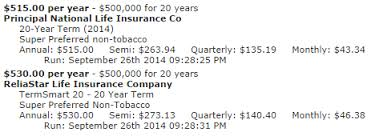 20 Year Term Life Insurance Quote