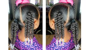 Natural Hairstyles Ponytails Rope Twist Ponytails W Beads Tutorial Kids Natural Hairstyle