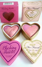 blushing hearts and too faced makeup