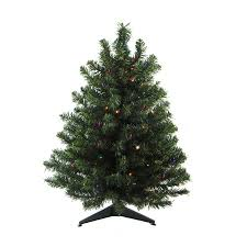 Northlight 3-ft Pre-lit Artificial Christmas Tree with 100 Multicolor LED  Lights