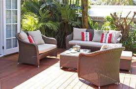 grey outdoor cushion set for patio wicker furniture ideas