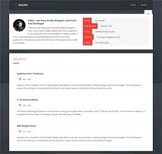 Resume Html Template Beauteous 28 HTML28 Resume Templates Free Samples Examples Format Download
