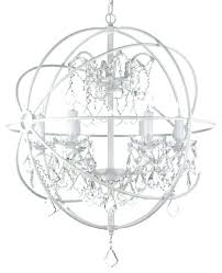 white wrought iron chandelier fascinating wrought iron chandelier with crystals white wrought iron orb crystal chandelier