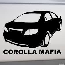 Decal Toyota Corolla Mafia - Buy vinyl decals for car or interior ...
