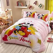 original sweet hearts mickey minnie bedding set