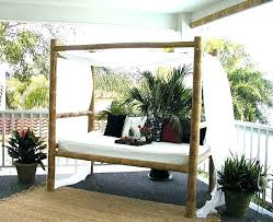 Bamboo Daybed Canopy Bed Vintage Design Nz