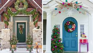 christmas front door decorationsHoliday Front Door Decorating Ideas