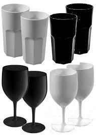 unbreakable polycarbonate plastic 8 glass set