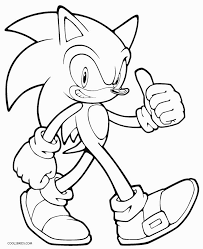 Small Picture Coloring Pages Printable Sonic Coloring Pages