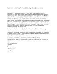 Employer Recommendation Letter Sample Academic Reference Letter Sample University Recommendation