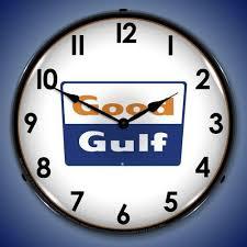 good gulf led lighted wall clock 14 x