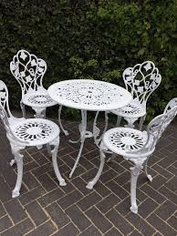 shabby chic outdoor furniture. White Furniture Shabby Chic. Chic Garden Set Table And Four Chairs F Outdoor
