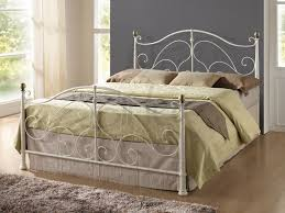 Milano Bedroom Furniture Metal Bed In Either A Cream Or Black Finish In Sizes 4ft6 Double