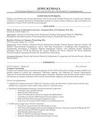 Entry Level Network Engineer Resume Sample Computer Networking Resume Example