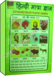 3d Charts Hindi Matra Gyan Royal Educational Stores A 117