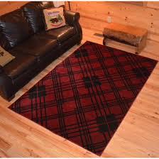 scottsdale red tartan rug