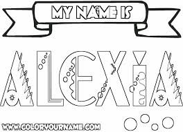 Name Coloring Page Courtoisiengcom