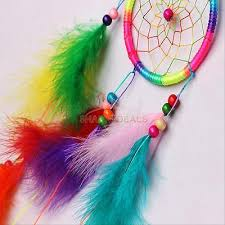 Colored Dream Catchers Adorable COLORFUL DREAM CATCHER With Feathers Car Wall Hanging Decor Ornament