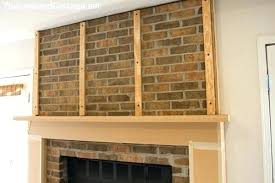 refacing brick fireplaces reface brick fireplace ideas save refacing brick fireplace ideas refacing brick fireplace with