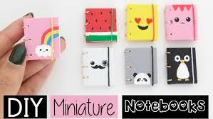 Easy Diy Diy Mini Notebooks Four Easy Cute Designs Youtube