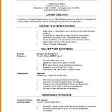Receptionist Resume Objective New Sample Resume Objectives Medical