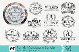 Christmas decoration item with frame card. Family Monogram Svg Bundle Graphic By Pinoyartkreatib Creative Fabrica