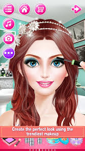 bridal boutique beauty salon wedding makeup dressup and makeover games screenshot 3