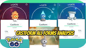 Castform All Forms Analysis Pokemon Go