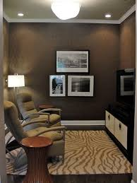 ... Silk effect textured wallpaper for the small TV room [Design: The  Couture Rooms]