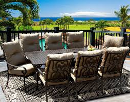 tortuga 42x84 rectangle outdoor patio 9pc dining set for 8 person with rectangle fire table series