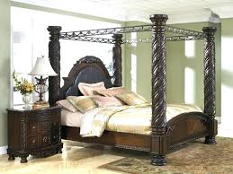 King Size Canopy Bed Frame For Sale With Curtains Medium Of Full ...
