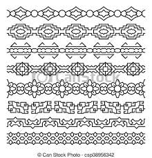 Asian Patterns Unique Asian Border And Frame Ornaments Chinese Japanese Korean Vector