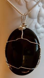 black obsidian pendant sterling silver pendant black pendant natural gemstone pendant
