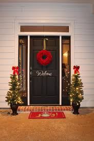 christmas front door clipart. Compelling Decoration Ideas Fair Image Also Front Porch Using Outdoor Animated Ornaments Including Round Red Christmas Door Clipart O
