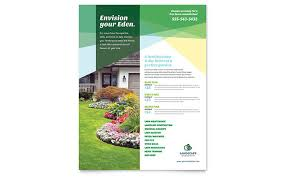 Sample Flyers For Landscaping Business Home Maintenance Flyer Templates Design Examples