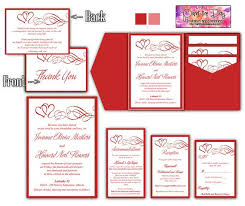 13 best red wedding invitations images on pinterest invitation Custom Wedding Invitation Inserts double heart swirls 5x7 wedding pocketfold microsoft word template valentine red invitation, rsvp Insert Wedding Invitation Etiquette