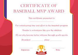 Baseball Mvp Certificate 10 Templates To Customize Online