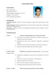 Extraordinay Curriculum Vitae English Hotel Andrea Szabo Cv English