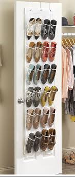 ... Crystal Clear Over The Door Shoe Organizer